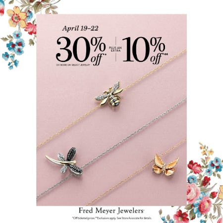 Hop Hop Sale from Fred Meyer Jewelers