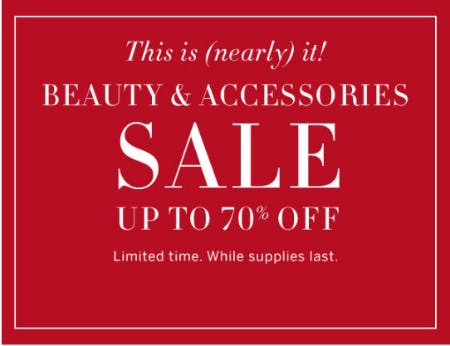 Beauty & Accessories Sale up to 70% Off