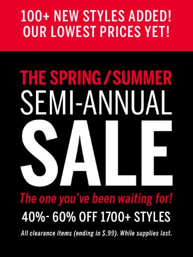 40%-60% Off Semi-Annual Sale