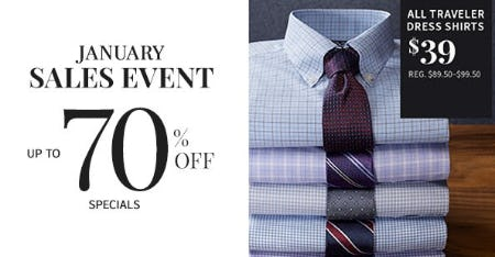 January Sales Event up to 70% Off from Jos. A. Bank