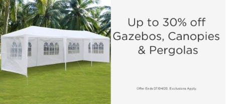 Up to 30% Off Gazebos, Canopies & Pergolas from Sears