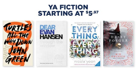Ya Fiction Starting at $5.97 from Books-A-Million