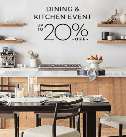 Up to 20% Off Dining & Kitchen Event from Pottery Barn