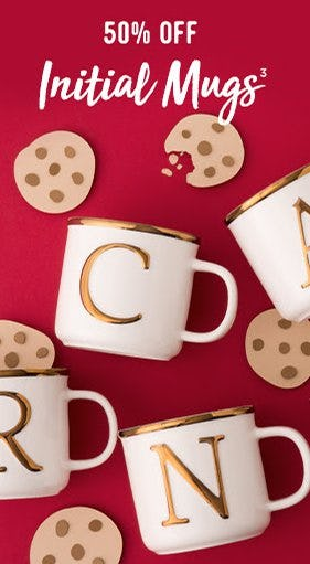 50% Off Initial Mugs from Things Remembered