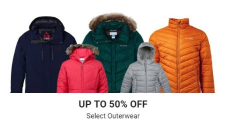 Up to 50% Off Select Outerwear
