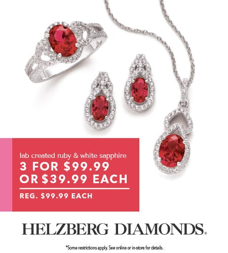 $99 Gift Set from Helzberg Diamonds