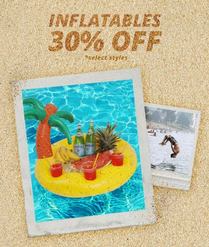 30% Off Inflatables