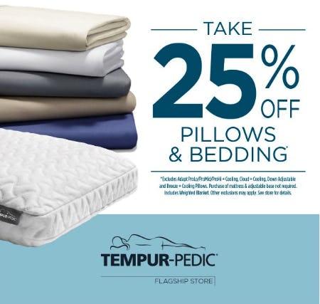 25% Off Pillows & Bedding
