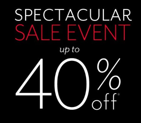Spectacular Sale Event up to 40% Off from White House Black Market
