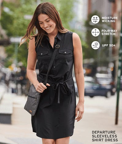 The Departure Sleeveless Shirt Dress from Eddie Bauer