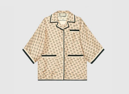 Gucci Stamp Silk Shirt from Gucci