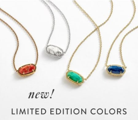 New Limited Edition Colors from Kendra Scott