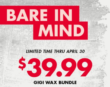 $39.99 Gigi Wax Bundle from Sally Beauty Supply