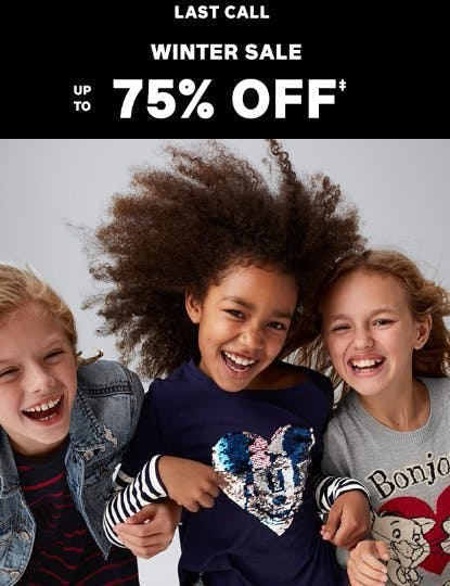Winter Sale up to 75% Off