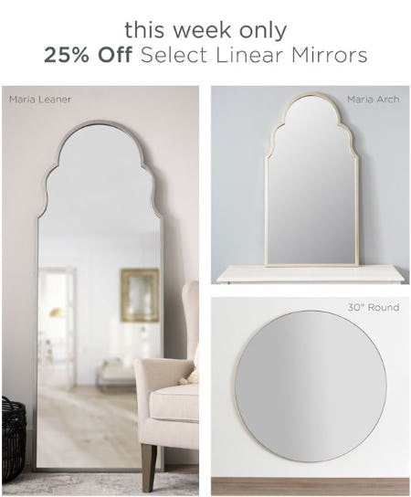 25% Off Select Linear Mirrors from Kirkland's