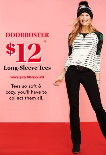 $12 Long-Sleeve Tees from maurices
