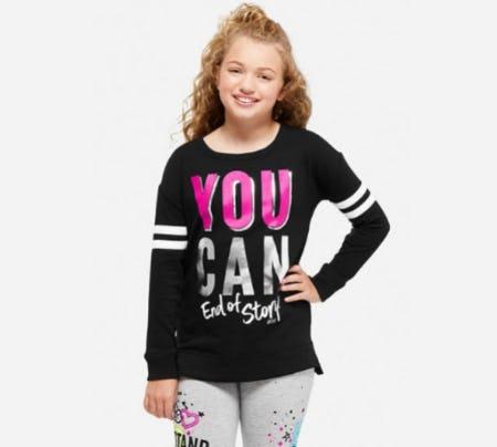 Positive Message Football Sweatshirt