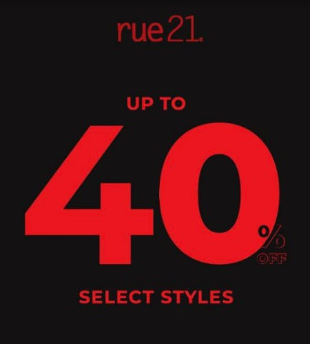 Black Friday Weekend from rue21