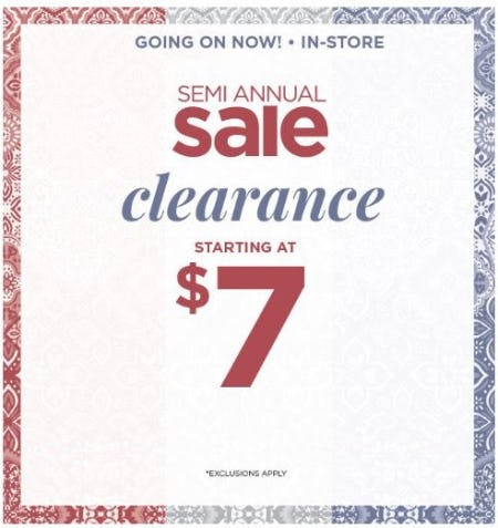 Semi-Annual Sale: Clearance Starting at $7 from C&B Christopher and Banks