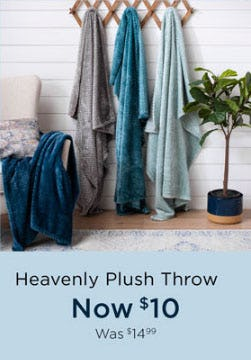 $10 Heavenly Plush Throw from Kirkland's