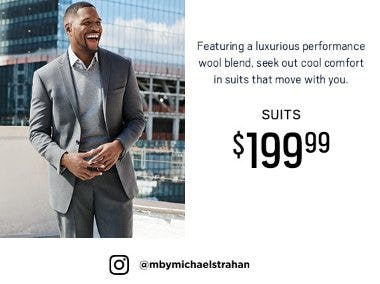 Collection by Michael Strahan: Suits $199.99 from Men's Wearhouse