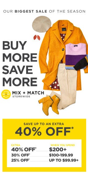 Buy More, Save More from Lord & Taylor