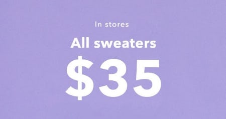 All Sweaters $35 from Aerie