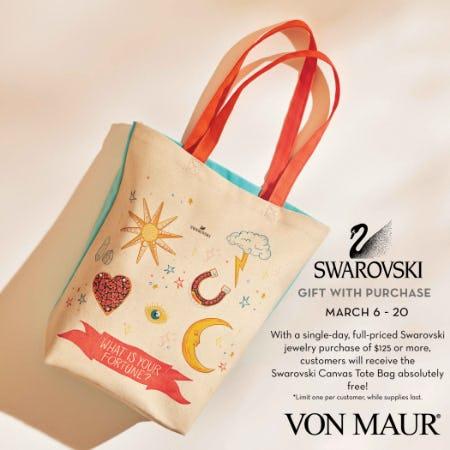 Swarovski Canvas Tote Bag Gift With Purchase from Von Maur