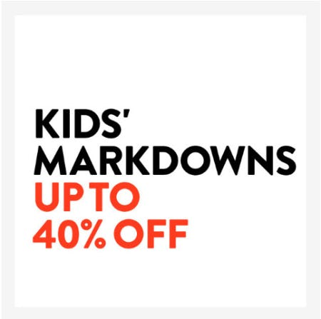 Kids' Markdowns up to 40% Off from Nordstrom
