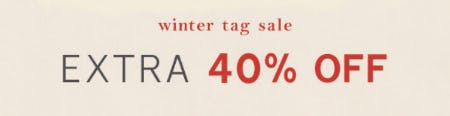 Extra 40% Off Winter Tag Sale