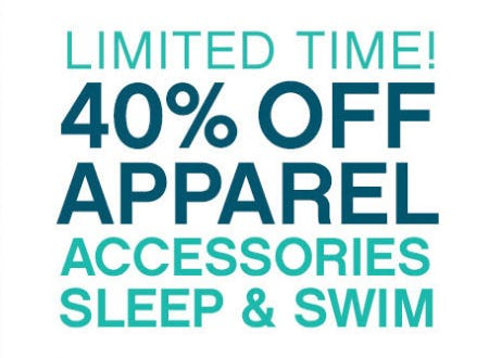 40% Off on Apparel, Accessories, Sleep & Swim from Catherines Plus Sizes