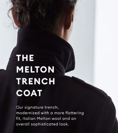 The Melton Trench Coat from Banana Republic