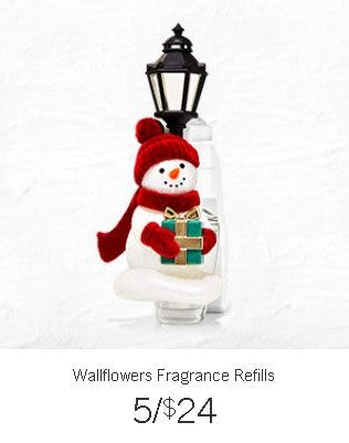 Wallflowers Fragrance Refills 5 for $24 from Bath & Body Works