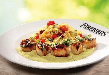 Firebirds Summer Features Menu from Firebirds Wood Fired Grill