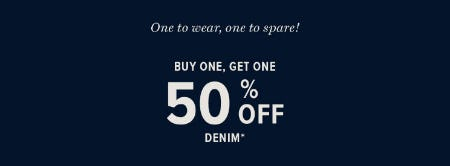 BOGO 50% Off Denim