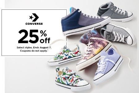 25% Off Converse from Kohl's