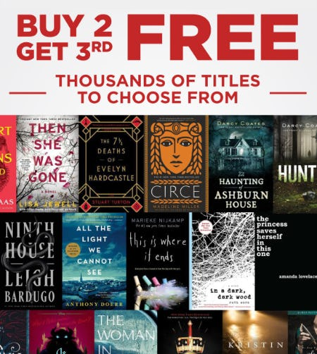 Buy 2, Get 3rd Free on Thousands of Titles to Choose From from Books-A-Million