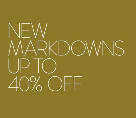 Up to 40% Off New Markdowns from Nordstrom