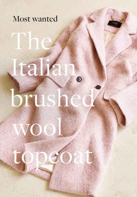 Meet the Italian Brushed Wool Topcoat from J.Crew