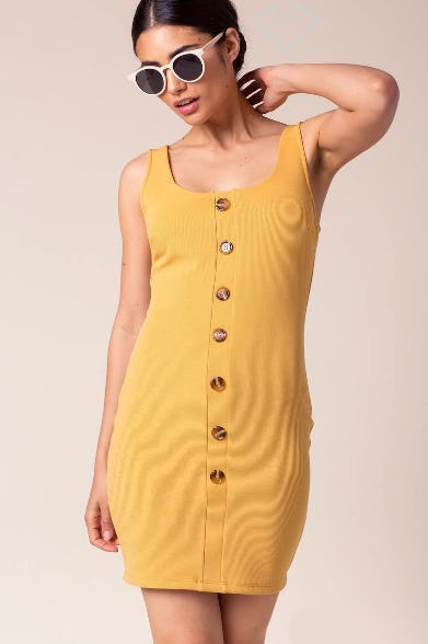 Brittany Button Dress from A'gaci