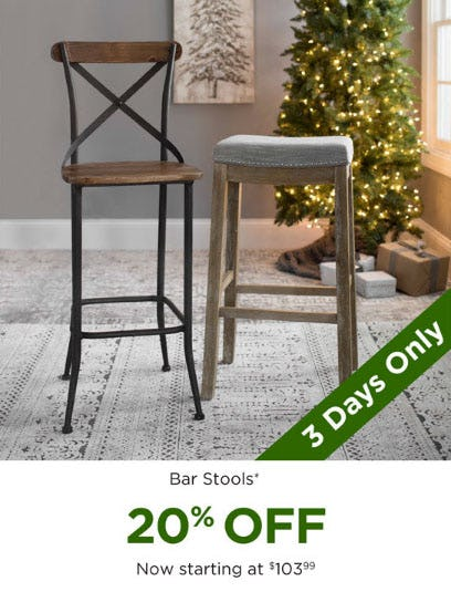 20% Off Bar Stools