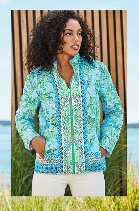 Meet the Maeven Reversible Puffer from Lilly Pulitzer