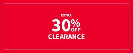 Extra 30% Off Clearance from Carter's
