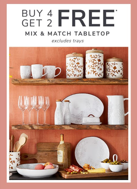B4G2 Free Mix & Match Tabletop from Pier 1 Imports
