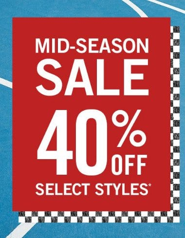 40% Off Select Styles from abercrombie