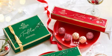 New Holiday TRUFFLES! from Godiva Chocolatier