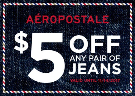 $5 off any pair of jeans!