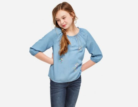 Sequin Chambray Top from Justice