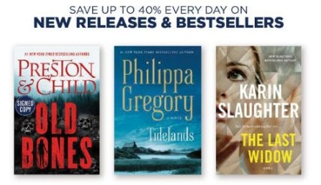 Up to 40% Off New Releases & Best Sellers from Books-A-Million