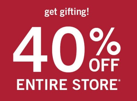 40% Off Entire Store from abercrombie